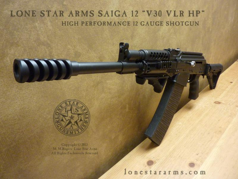 "Lone Star Arms Saiga 12 ""V30 VLR HP"" High Performance Low Recoil Build"